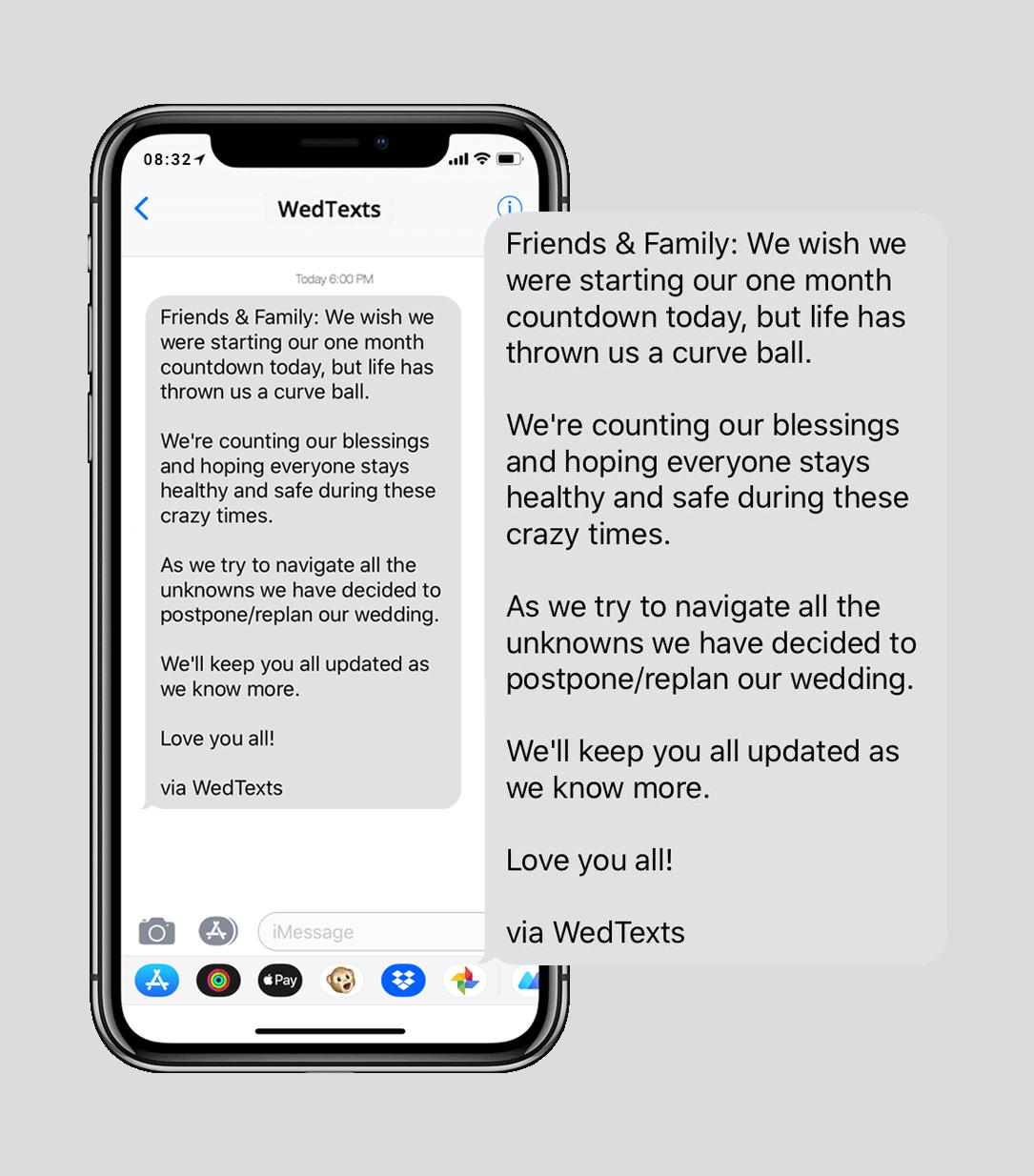 wedding text messages - iphone - wedding rsvp reminder